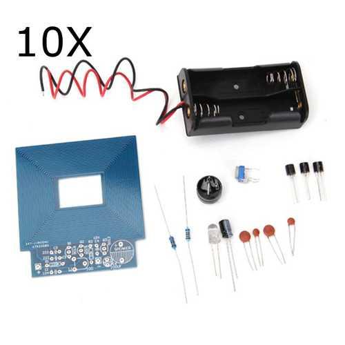10Pcs DIY Metal Detector Kit Treasure Hunting Instrument Security Apparatus Stick