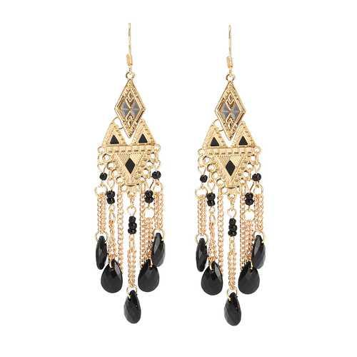 Bohemia Irregular Triangle Drop Tassels Women Earrings