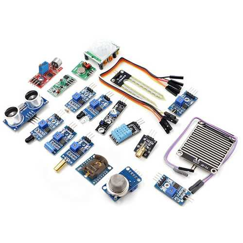 Geekcreit® 16 In 1 Sensor Module Kit Laser Ultrasonic Obstacle Avoidance For Raspberry Pi 2 Pi2 Pi3 Plastic Bag Package