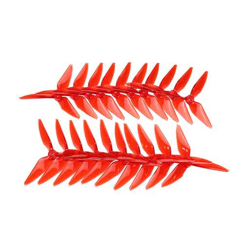 10 Pairs KINGKONG/LDARC 5051 Single Color 3-blade CW CCW Propeller 5.0mm Mounting Hole for RC FPV Racing Drone