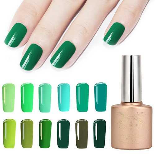 12 Colors Spring Gorgeous Green Series Nano Greenery Nail Art UV Gel Polish Soak-off 12ml