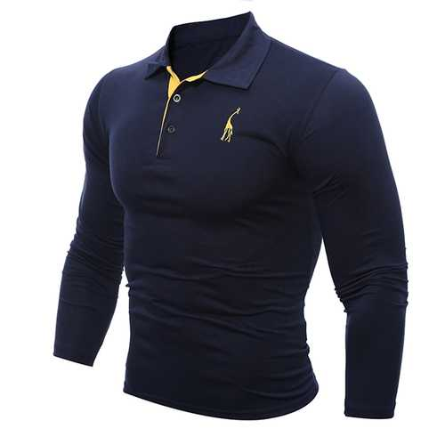 Men's Casual Fashion Deer Embroidered T-shirts
