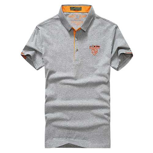 Fashion T-Shirt Cotton Lapel Short Sleeve Golf Shirt