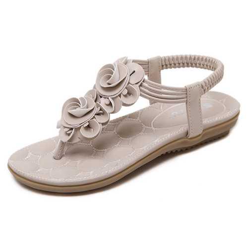 Bohemia Clip Toe Elastic Casual Flat Sandals
