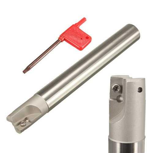 400R C25-25-200 Milling Tool Holder Seismic Angle Step Arbor For APMT1604 Insert
