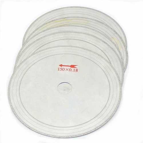10Pcs 6 Inch 0.43mm Super-Thin Diamond Lapidary Saw Blades 150mmx20mm Gems Cutting Disc