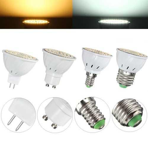 E27 E14 GU10 MR16 4W 80 SMD 3528 Non-Dimmable LED Warm White White Spot Lightt Lamp Bulb AC110/220V