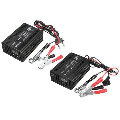6V/12V 10A Smart Car Motorcycle Battery Charger Lead Acid Battery Charger 230V