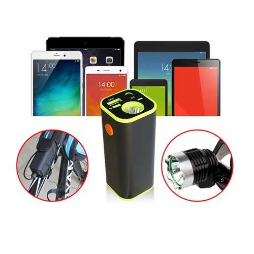 BIKIGHT 18650 Battery Box USB Charger LED Light Mobile For Bike Bicycle Light Phone Tablet Audio Player Power Bank with Portable Bag