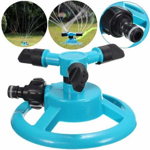 1/2 Inch Three Heads Rotation Sprinkler Garden Lawn Watering Irrigation Spraying Nozzle
