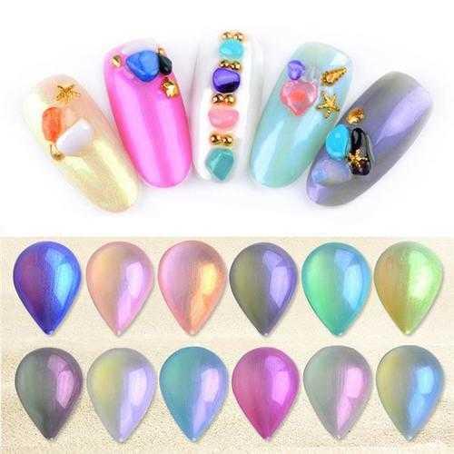 Pearl Shell UV Gel Polish Sea Shells Luster Soak Off Symphony Shiny Color Builder Mermaid Glue