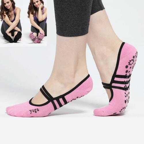 Ballet Anti-slip Non Skid Yoga Socks Pilates Gym Exercise Backless Massage Dance Sock