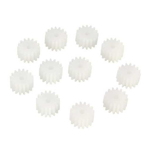 10pcs 16Gear 2mm Plastic Accessories Of DIY Model Toy Motor Shaft Gear