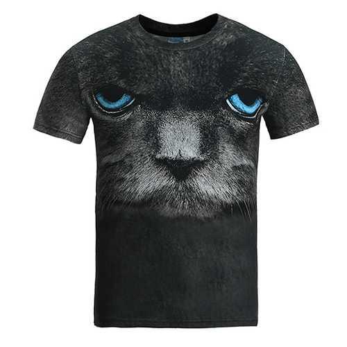 Fashion Creative Printing 3D Animal T-shirt Men's Leisure Short Sleeve T-shirt