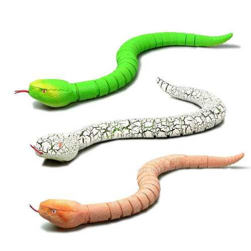 Creative Simulation Electronic Remote Control Realistic  RC Snake Toy Prank Gift Model Halloween