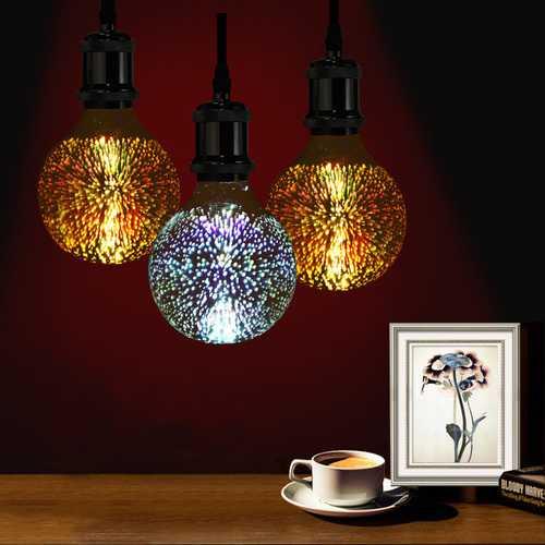 3D Fireworks E27 G80 LED Retro Edison Decorative Light Lamp Bulb AC85-265V