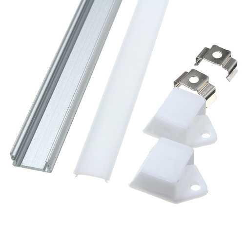 50CM XH-008 U-Style Aluminum Channel Holder For LED Strip Light Bar Under Cabinet Lamp Lighting