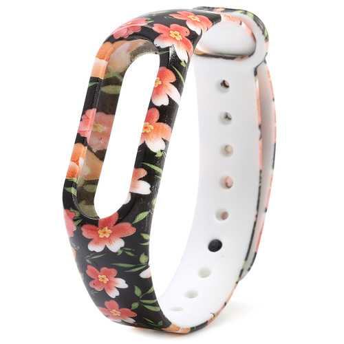 TPU Replacement Silicone Wrist Strap WristBand Bracelet Watch Strap for Xiaomi Miband 2