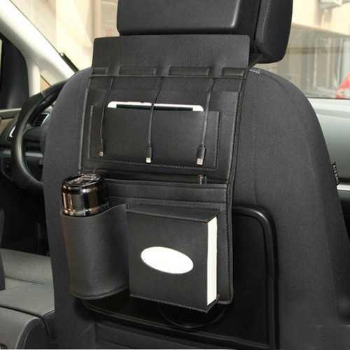 Car Seat Back Multi Pocket Micro Usb 8Pin Type-c Charging Cable Storage Bag