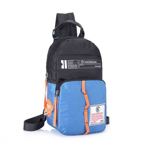 Women Men Casual Nylon Sports Outdoor Chest Bag Shoulder Bags Backpack