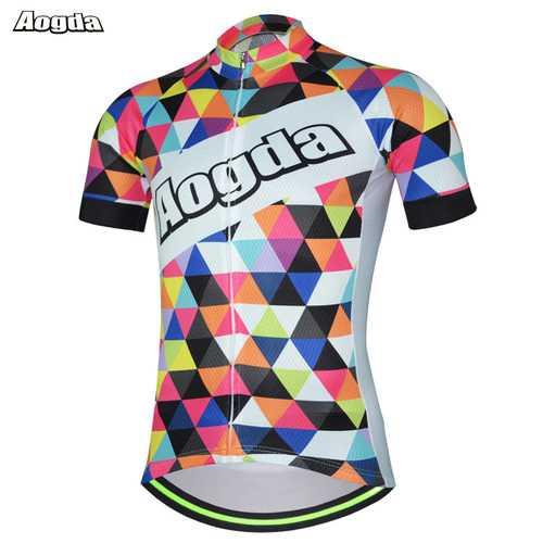 AOGDA Original Design Colorful Men's Sports Cycling Bike Jersey Bicycle Short Sleeve