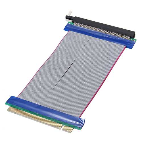 19cm PCI-E 16X Male to Female Graphics Card Extension Cable Flex Ribbon Riser Card