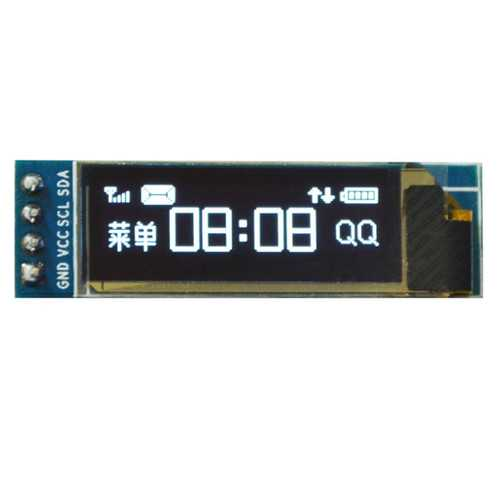 0.91 Inch OLED Display Module 12832 LCD Screen IIC I2C Serial Port Geekcreit for Arduino - products that work with official Arduino boards