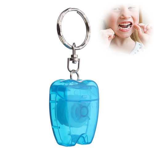 15m Mint Portable Key Chain Dental Tooth Floss Flossing Teeth Oral Clean Gum Care Tool Keyring