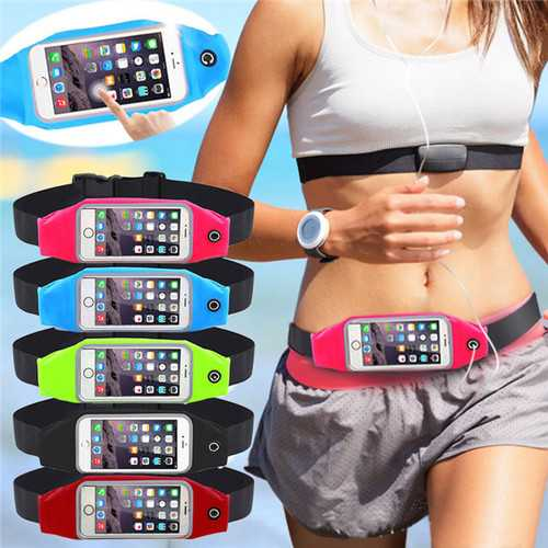 Universal Waterproof Waist Phone Bag Case Sport GYM Outdoor Workout for iPhone 7 7 Plus Xiaomi
