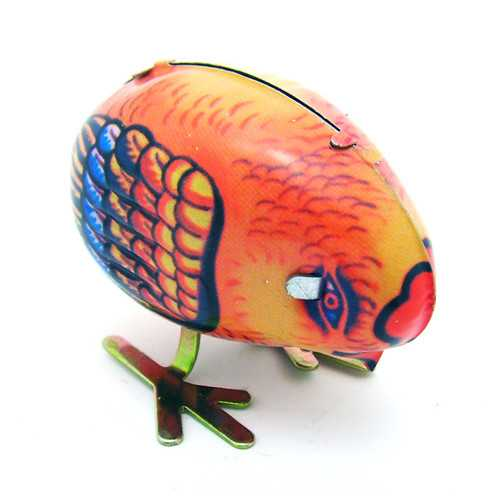 Classic Vintage Clockwork Little Chicken Wind Up Reminiscence Children Kids Tin Toys