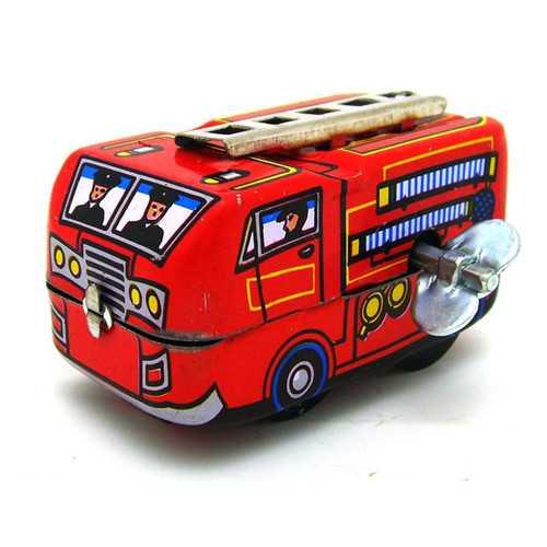 Classic Vintage Wind Up Truck Nostalgic Clockwork Children Kids Tin Toys With Key