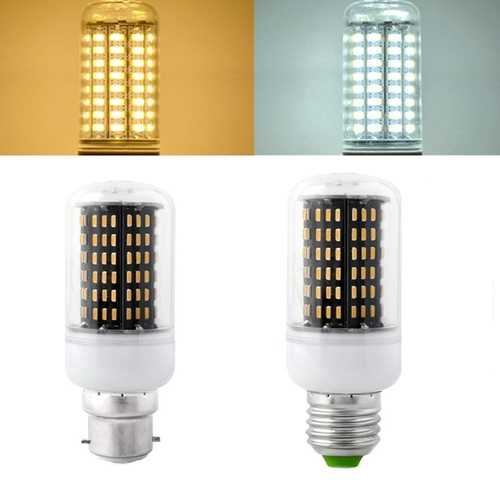 E27 B22 7W SMD 4014 LED Black Corn Bulb Lamp Indoor Home Lighting AC85-265V