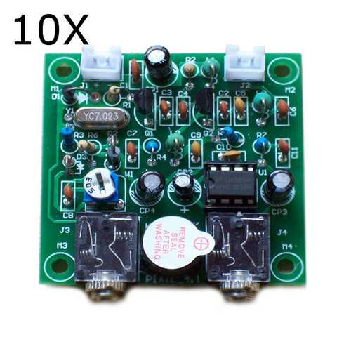 10Pcs DIY QRP Pixie CW Receiver Transmitter Kit 7.023MHz Telegraph Shortwave Radio