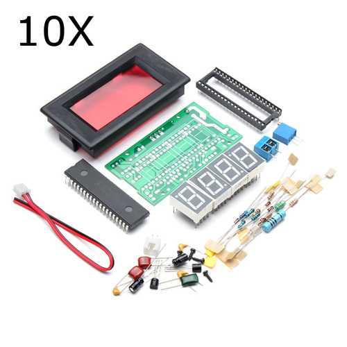 10Pcs DIY 4 Digit Ammeter Kit ICL7107 Electronic LED Soldering Set
