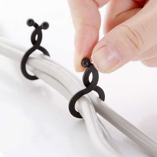 30PCS Small Size Cable Organizer Tie-line Management Protetor Wire Bobbin Winder Random Color