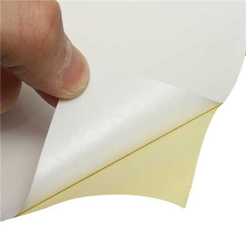 100pcs A4 White Self Adhesive Sticker Paper Sheet Label Laser Inkjet Print