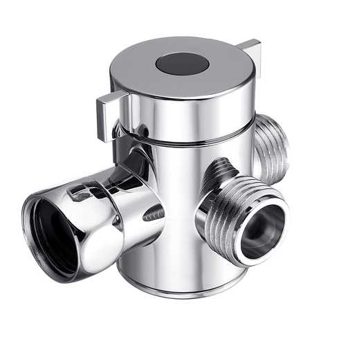 "Multifunction 3 Way Shower Head Diverter Valve G1/2"" Three Function Switch Adapter Valve"