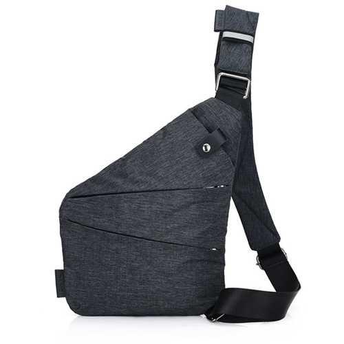 Men Hidden Crossbody Shoulder Bag Anti Theft Messenger Bag Motorcycle Chest Pack