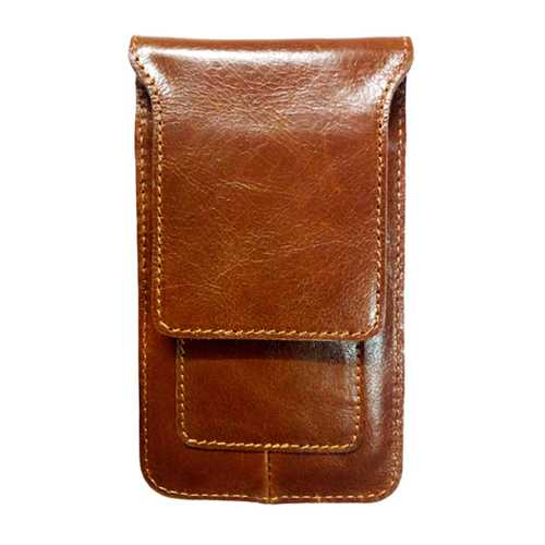 4.7-5.7 Inches Cell Phone Men Cell Phone Genuine Leather Waist Bag