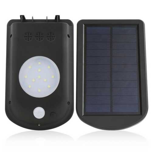 1.5W Solar PIR Motion Sensor Waterproof IP65 Wall Light Outdoor Garden Landscape Security Lamp