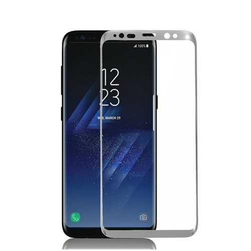 3D Arc Edge 0.26mm Tempered Glass Silk Screen Rim Screen Protector for Samsung Galaxy S8 & S8 Plus