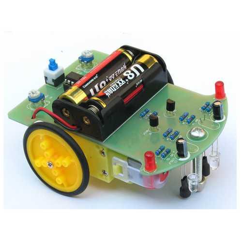 10PCS Mini Electronic Tracking Robot Car DIY Kit With Reduction Motor