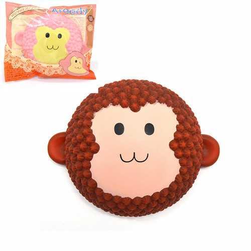 2PCS Areedy Squishy Jumbo Monkey Cake 15cm Scented Slow Rising Packaging Gift Decor