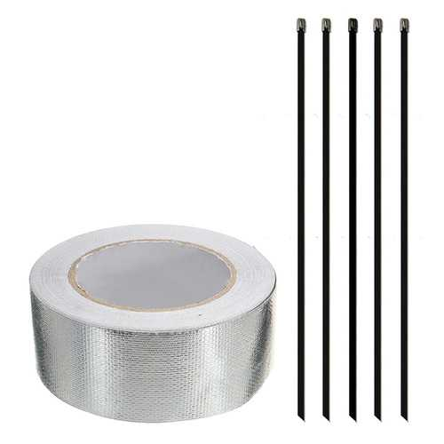 Aluminum Reinforced Tape Heat Shield Adhesive Backed Resistant Wrap Intake