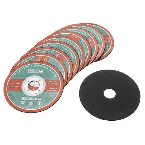 HILDA 10Pcs 115mm Angle Grinding Cutting Wheels Inner Diameter 22.2mm Cutting Discs 1.0mm Thickness