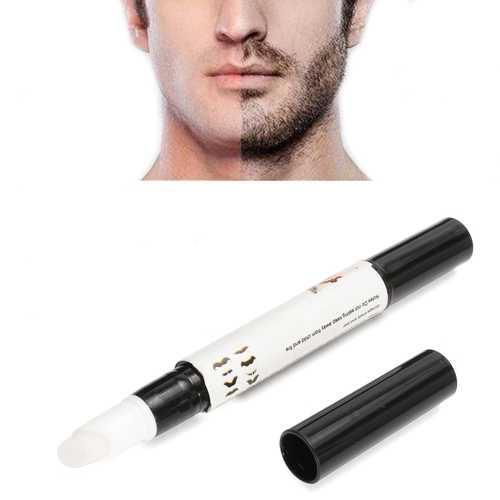 Natrual Beard Growth Pen Facial Hair Mustache Sideburns Eyebrow Enhancer Cream