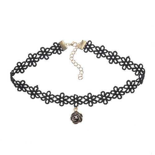 Lotita Punk Lace Flower Black Choker Vintage Women Necklace Best Gift for Girl