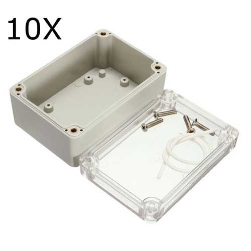 10Pcs 100x68x50mm Electronic Plastic Box Waterproof Electrical Junction Case