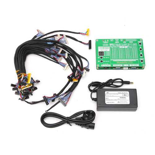 5.6-84inch LCD LED Panel Tester LVDS Screen Tester TV/Computer/Laptop Repair Tool with  Inverter+29Pcs LVDS Cables