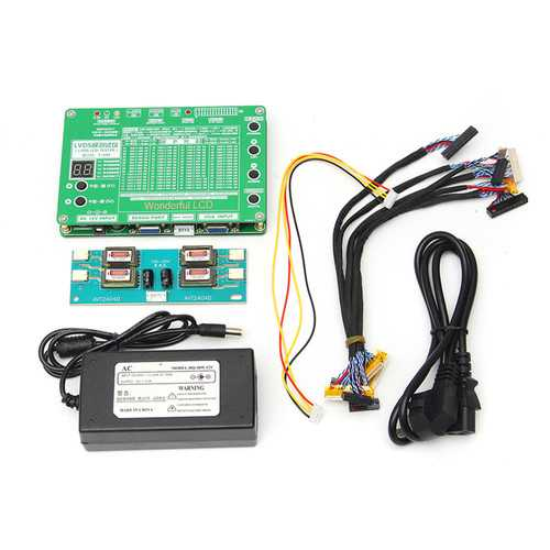 5.6-84inch LVDS Screen Tester LCD LED Panel Tester TV/Computer/Laptop Repair Tool with Inverter+6Pcs LVDS Cables